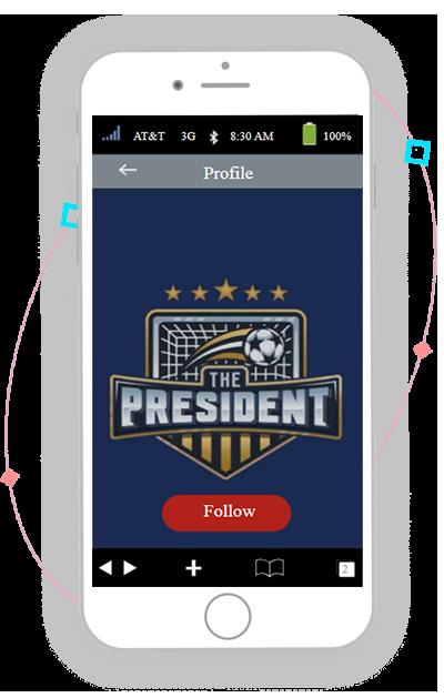 thepresident app by crypto soccer manager